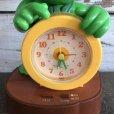 画像6: 80s Vintage Little Green Sprout Talking Alarm Clock (S680)