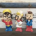 【SALE!】70s Vintage Pop Sanp Crackle vinyl doll Set (S707)