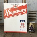Vintage Cardboard Sign Kingsbury Beer (S731)