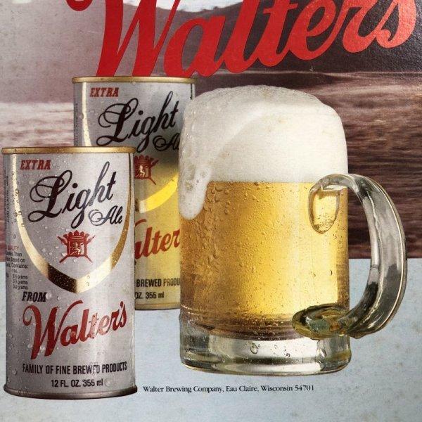 画像2: Vintage Cardboard Sign Walter's Beer for the good times... (S715)
