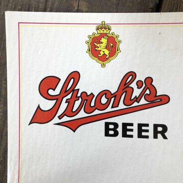 画像3: Vintage Cardboard Sign Stroh's Beer (S717)