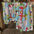 80s Vintage Popeye Curtain Set (S736)