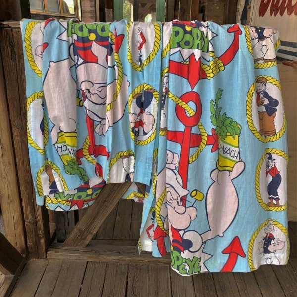 画像1: 80s Vintage Popeye Curtain Set (S736)