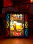 画像1: Vintage Miller Beer Lighted Stained Glass Sign (S738) (1)