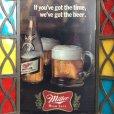 画像8: Vintage Miller Beer Lighted Stained Glass Sign (S738)