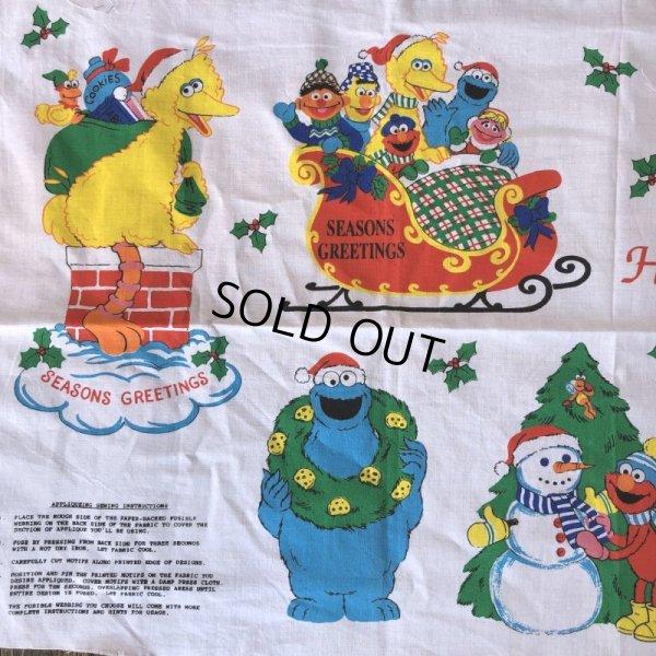 画像3: Vintage sesame Street Ornament Fabric Pillow Cushion Panel (S762)