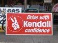 画像2: 70s Vintage KENDALL DRIVE WITH KENDALL CONFIDENCE Metal Sign (S763) (2)