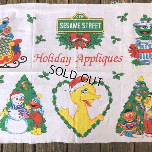 画像4: Vintage sesame Street Ornament Fabric Pillow Cushion Panel (S762)
