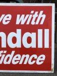 画像6: 70s Vintage KENDALL DRIVE WITH KENDALL CONFIDENCE Metal Sign (S763)