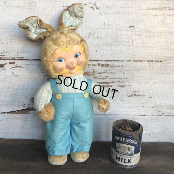 画像1: Vintage Gund Rubber Face Doll Blue Bunny (S792)