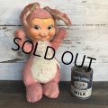Vintage Gund Rubber Face Doll Pink Bunny (S793)