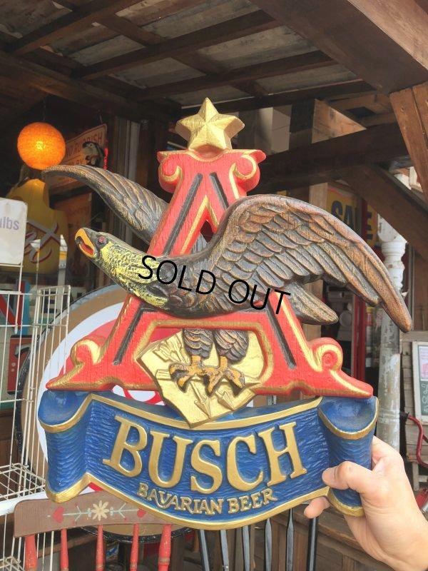 画像1: Vintage Anheuser Busch Bavarian American Eagle Budweiser Plaque Sign  (S766)