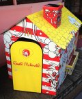 Vintage Ronald McDonald House Display Cardboard House (S799)