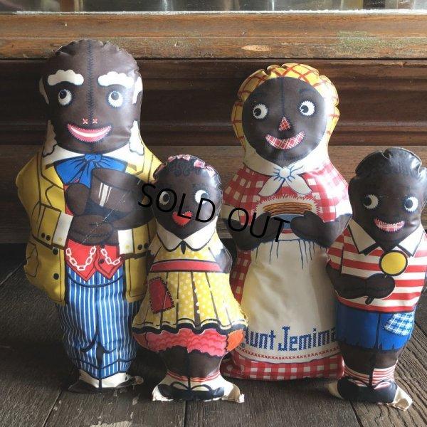 画像1: 40s Vintage Aunt Jemima Advertising Oil Cloth Doll Complete Set (S800)