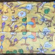 画像6: 70s Vintage Fabric Twin Flat  Road Runner & Wile E. Coyote (S815)