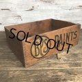 Vtg Antique BPS PAINTS Dovetail Wooden Crate Box (S822)