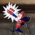 画像1: 70s Vintage Budweiser Bud Man Sticker Decal (S862) (1)
