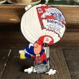 画像1: 70s Vintage Budweiser Bud Man Mighty Malt Sticker Decal (S846) (1)