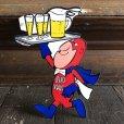 画像1: 70s Vintage Budweiser Bud Man Mighty Malt Sticker Decal (S831) (1)
