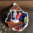 画像1: 70s Vintage Budweiser Bud Man Mighty Malt Sticker Decal (S834) (1)