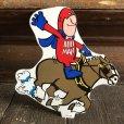 画像1: 70s Vintage Budweiser Bud Man Mighty Malt Sticker Decal (S849) (1)