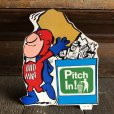 画像1: 70s Vintage Budweiser Bud Man Mighty Malt Sticker Decal (S859) (1)