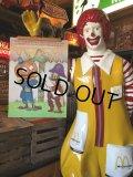 70s Vintage McDonalds Poster Sign Captain Crook & Officer Big Mac (S906)