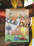 70s Vintage McDonalds Poster Sign Ronald McDonald & Fry Kids (S903)