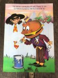 画像2: 70s Vintage McDonalds Poster Sign Hamburglar & Mayor McCheese (S904)  (2)