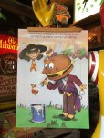 画像1: 70s Vintage McDonalds Poster Sign Hamburglar & Mayor McCheese (S904)  (1)