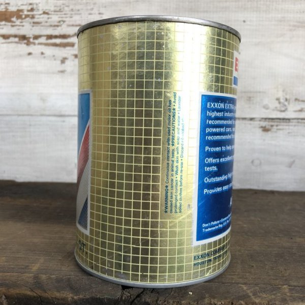 画像2: Vintage EXXON Quart Oil can (S923)
