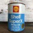 画像1: Vintage SHELL Quart Oil can (S933)  (1)