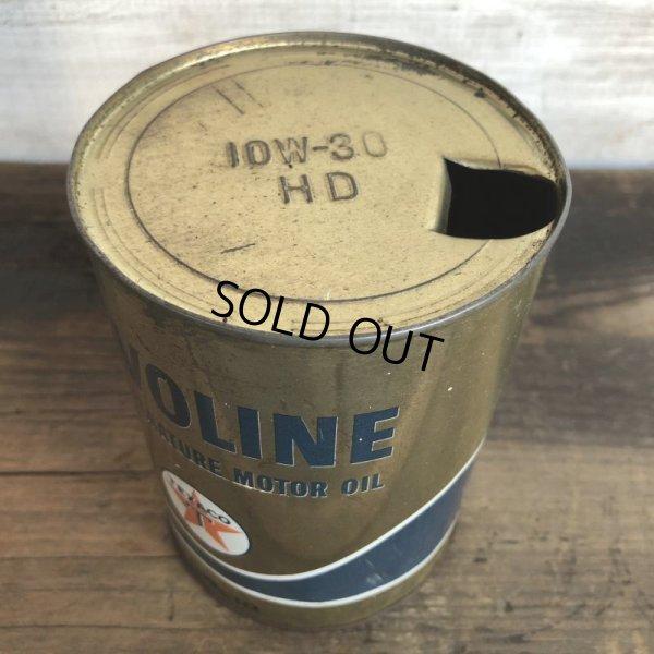 画像5: Vintage TEXACO Quart Oil can (S940)