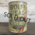 Vintage WOLF'S HEAD Quart Oil can (S920)
