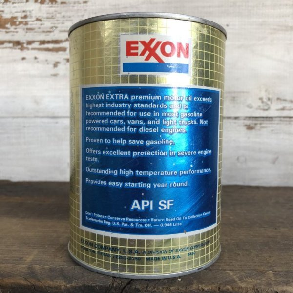 画像3: Vintage EXXON Quart Oil can (S923)