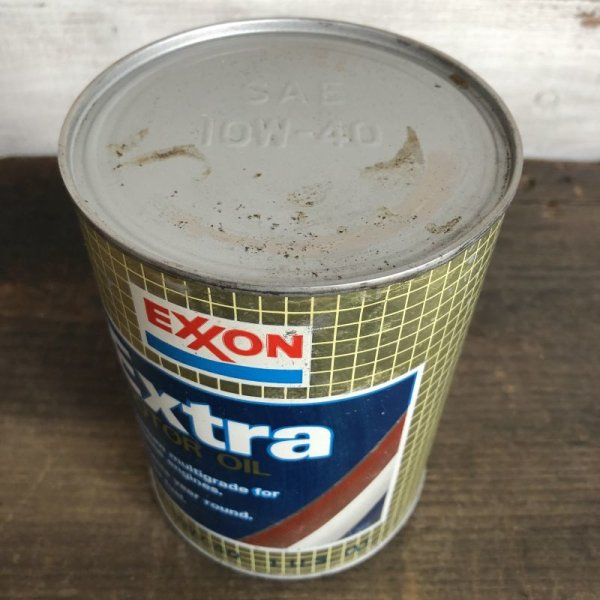 画像5: Vintage EXXON Quart Oil can (S923)