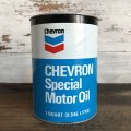 Vintage CHEVRON Quart Oil can (S954)