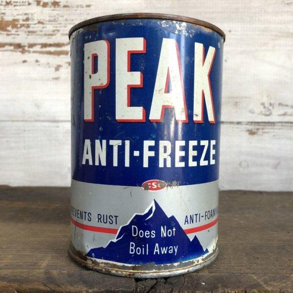 画像1: Vintage PEAK Quart Oil can (S924)