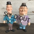 【SALE】70s Vintage Laurel & Hardy Figure Set R.DAKIN (S968)