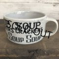 70s Vintage Soup Crackers Heavy Mug Gray (S929)