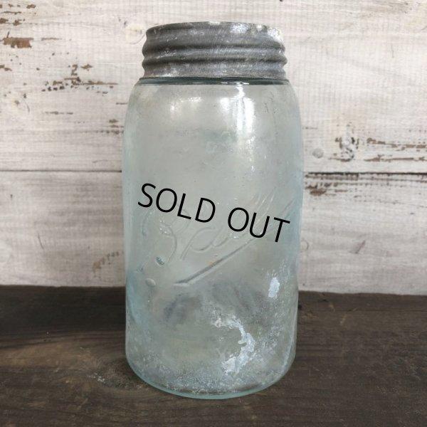 画像1: 10s Vintage Glass Ball Mason Jar 17.5cm (S983)