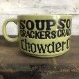画像3: 70s Vintage Soup Crackers Chawder Heavy Mug Green (S927)