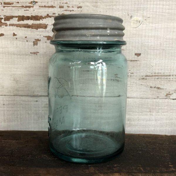 画像2: 30s Vintage Glass Ball Mason Jar 14cm (S990)