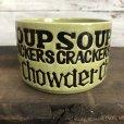画像2: 70s Vintage Soup Crackers Chawder Heavy Mug Green (S927) (2)