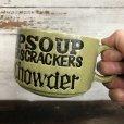 画像7: 70s Vintage Soup Crackers Chawder Heavy Mug Green (S927)