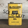 Vintage McCULLOCH GEAR CASE OIL can (T046)