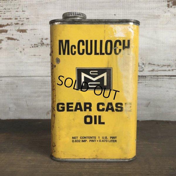 画像1: Vintage McCULLOCH GEAR CASE OIL can (T046)