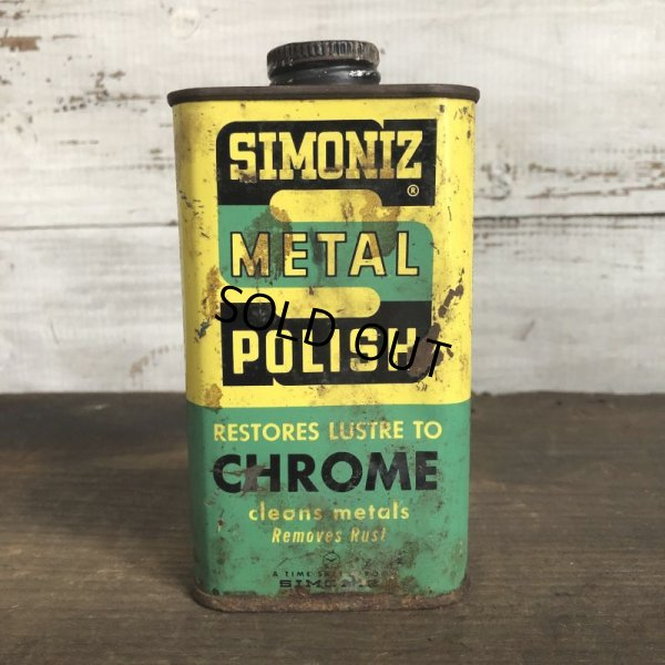 画像1: Vintage SIMONIZ METAL POLISH can (T042)