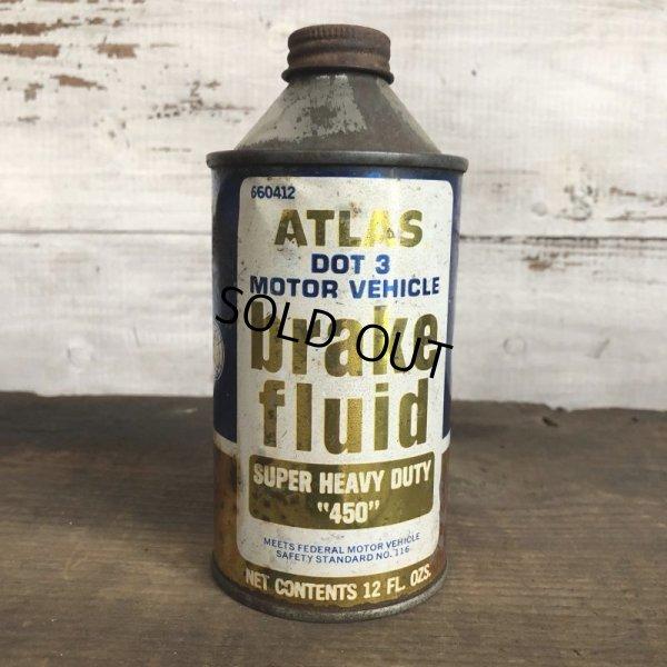 画像1: Vintage ATLAS Brake Fluid can (T038)