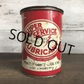 Vintage SUPER SERVICE LUBRICANT can (T041)
